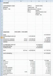 Lønberegning i Excel